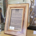 Mixed wood photo frame