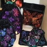 Velvet bags from Guatemala