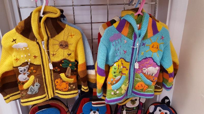 Children's cardigans from Peru